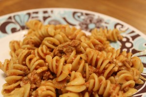 Cheesy Ground Turkey Pasta Recipe