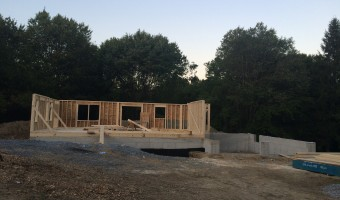 Framing of the house has started