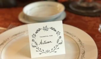 Personalized Place cards for Thanksgiving or Christmas Dinner